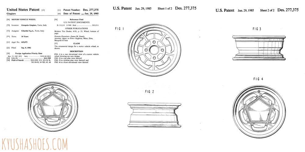 Cromodora Type Giugiaro Patent